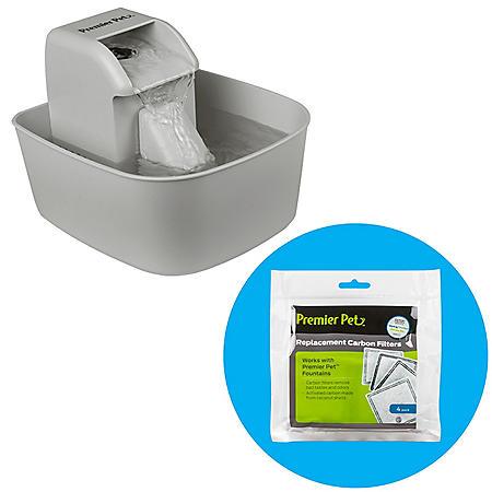 Premier Pet 50 Ounce Pet Water Fountain + Carbon Filter (4 pk.)