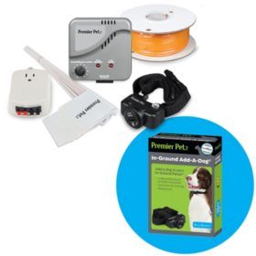 Premier Pet Inground Fence System (up to 1/3 acre) + Extra Inground Add-a-Dog Collar (1 ct.)