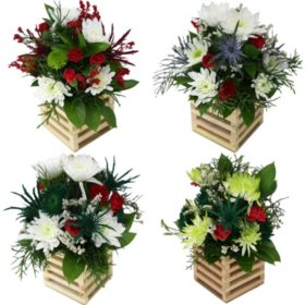Hi There Christmas Floral Arrangements (9 ct.)