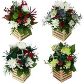 Hi There Christmas Floral Arrangements (9 ct.)