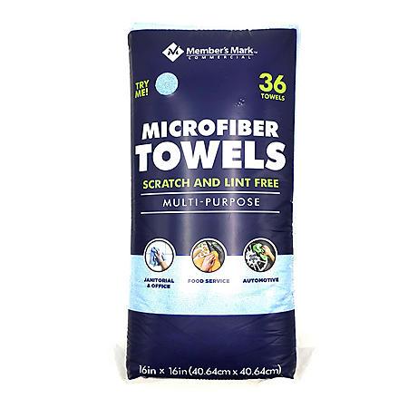 Member's Mark Microfiber Towels, Assorted Colors (36 ct.)