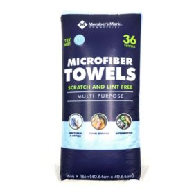 Member's Mark Microfiber Towels, Assorted Colors (36 ct.)