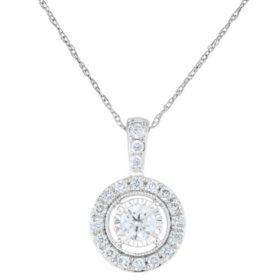 0.45 CT. T.W. Diamond Pendant in 14k White Gold