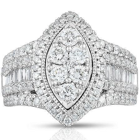 1.95 CT. T.W. Diamond Bridal Ring in 14k White Gold