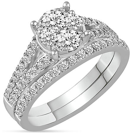 1.00 CT. T.W. Diamond Composite Bridal Ring in 14K Gold