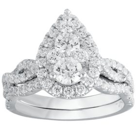 1.75 CT. T.W. Diamond Composite Bridal Ring in 14K Gold