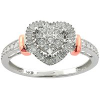0.23 CT T.W. Diamond Heart Ring in 14K Gold