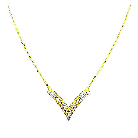 14k Gold Wire Necklace