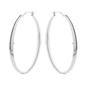 Sterling Silver Oval High Polish Hoop Earrings