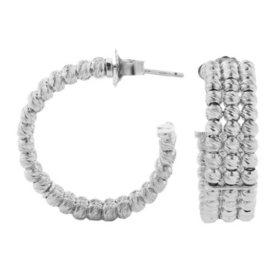 Italian Sterling Silver Layered Bead Earrings