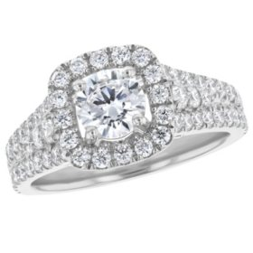 S Collection Bridal 2 CT. T.W. Diamond Halo Ring in 14K Gold (SI, H-I)