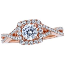 S Collection Bridal 0.90 CT. T.W. Diamond Halo Ring in 14K Gold (SI, H-I)