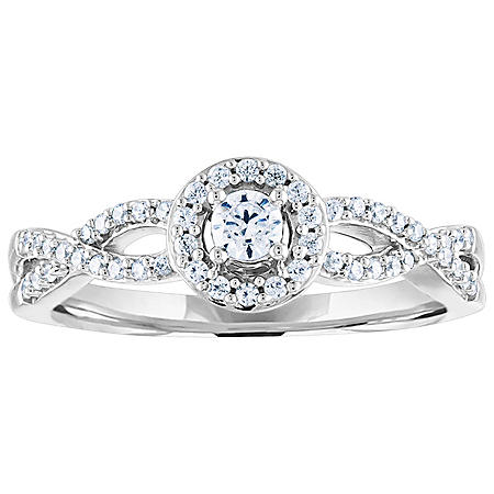 0.25 CT. T.W. Diamond Engagement Ring in 14K Gold
