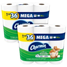 Charmin Ultra Gentle Toilet Paper, Bath Tissue, 18 Mega Rolls