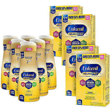 Enfamil NeuroPro Infant Formula Milk-based with Iron Bundle