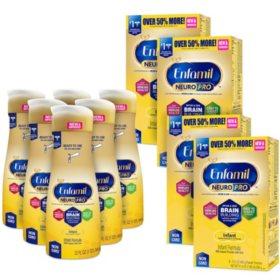 Enfamil NeuroPro Infant Formula Milk-based with Iron Bundle