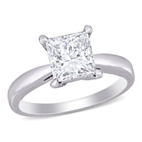 Allura 2 CT. T.W. Princess-Cut Diamond Solitaire Engagement Ring in Platinum and 14k White Gold