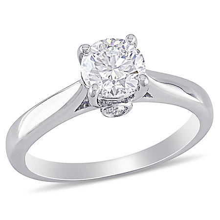 Elegance by Allura 0.75 CT. T.W. Diamond Engagement Ring in 18k White Gold