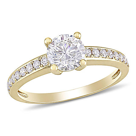 Elegance by Allura 1.13 CT. T.W. Diamond Engagement Ring in 14k Yellow Gold