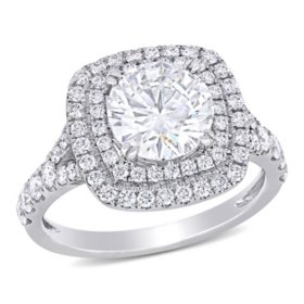 Allura 2.79 CT. T.W. Diamond Double Halo Engagement Ring in 14k White Gold