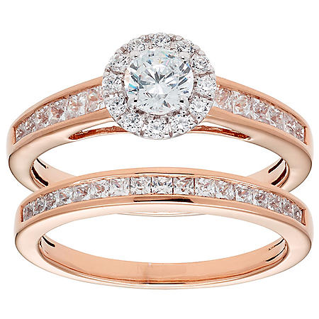 1.00 CT. T.W. Round Diamond Engagement Ring and Band in 14K Gold (I, I1)