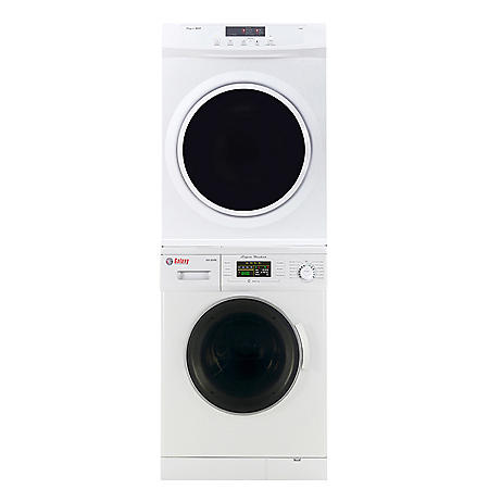 Galaxy - Equator Stackable Set Compact Laundry Pair - 1.6 cu.ft. Front Load Washer and 3.5 cu.ft. Short Dryer