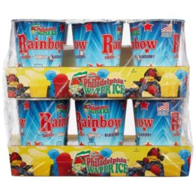Philadelphia Water Ice Cups, Rainbow (8 fl. oz. ea., 12 ct.)