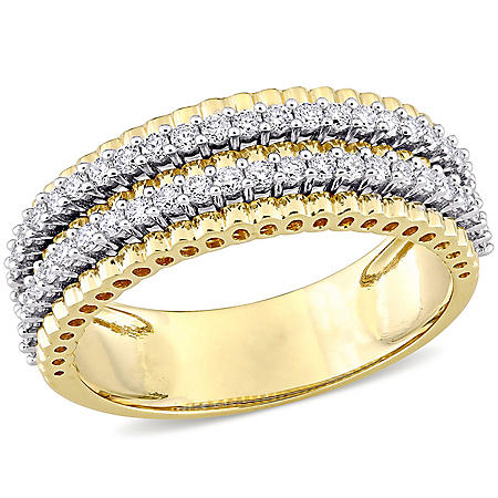 Allura 0.45 CT. T.W. Diamond Double-Row Anniversary Ring in 14k Gold