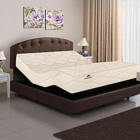 American Sleep Collection Split King Organic Elements All Latex Core Mattress and Adjustable Base