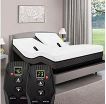 Queen Dual Head Digital Air American Sleep Collection 1100 Smart Bed with High Profile Dual Air Bed Mattress & Premium