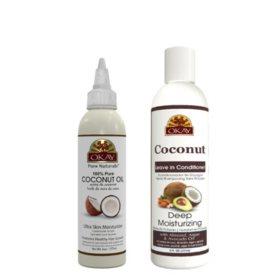 OKAY Coconut Deep Moisturizing - Sulfate, Silicone, Paraben Free, Four Piece Set