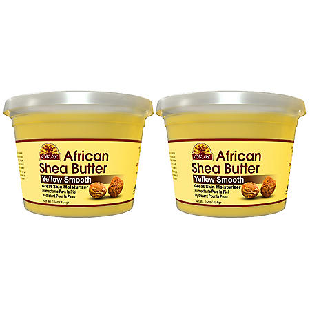 OKAY Shea Butter Yellow Smooth (13 oz. 2pk.)