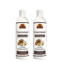 OKAY Coconut Oil Deep Moisturizing Shampoo and Conditioner - Sulfate, Silicone, Paraben Free (12 oz., 2pk.)