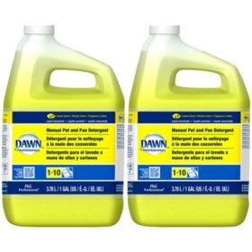 Dawn Professional Manual Pot and Pan Detergent, Lemon Scent, 1 Gallon - 2 pk.