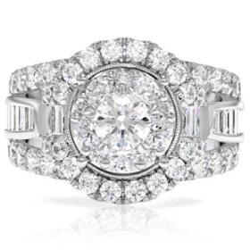 2.95 CT. T.W. Diamond Ring in 14k White Gold