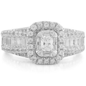 1.45 CT. T.W. Diamond Ring in 14k White Gold