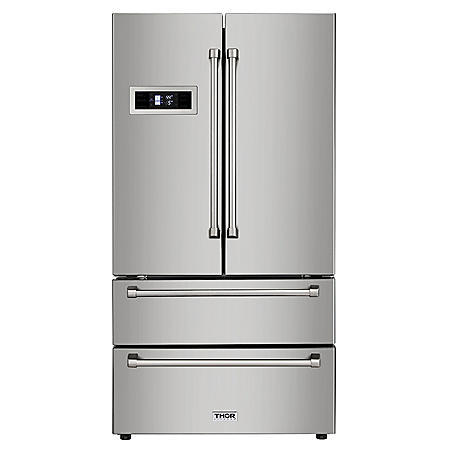 """Thor Kitchen 36"""" French Door Refrigerator with Ice Maker"""