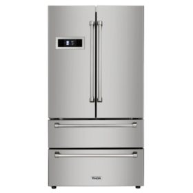 "Thor Kitchen 36"" French Door Refrigerator with Ice Maker"