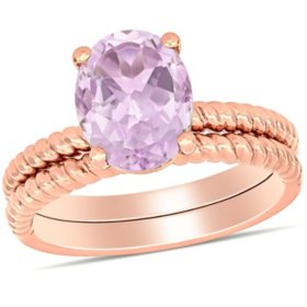 2.38 CT. T.G.W. Rose de France Double Row Braided Cocktail Ring in 14K Rose Gold