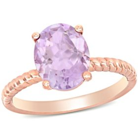 2.37 CT. T.G.W. Rose de France Promise Ring in 14K Rose Gold