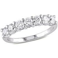 Allura 0.95 CT. T.W. Diamond Semi Eternity Anniversary Ring in 14k White Gold