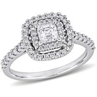 Allura 0.95 CT. T.W. Diamond Double Halo Engagement Ring in 14k White Gold