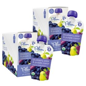 Plum Organics Stage 2 Organic Baby Food Bundle, Choose Your Flavor (4 oz., 12 pk.)