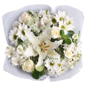 White Monochromatic Mixed Bouquets (6 ct.)