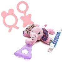NISSI & JIREH 5-in-1 Pacifier Soother and Teether Set Bundle (Choose Type & Color)