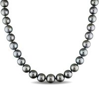 """Allura 10-13 MM Tahitian Cultured Pearl Strand Necklace in 14K White Gold, 18"""""""