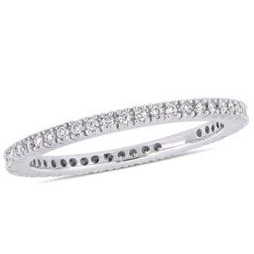 0.33 CT. Diamond Eternity Anniversary Ring in 14k White Gold