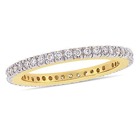 0.25 CT. Diamond Eternity Anniversary Ring in 14k Yellow Gold