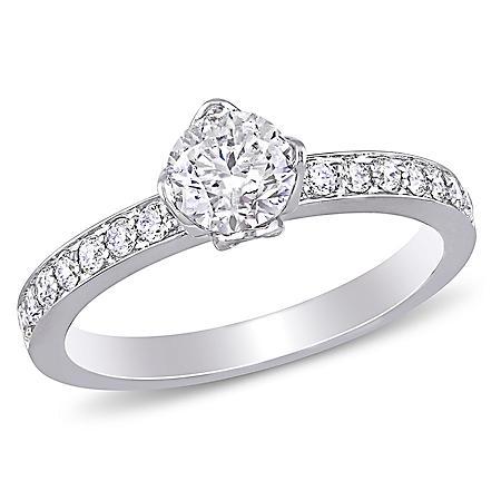 Allura 1 CT. Diamond Engagement Ring in 14k White Gold