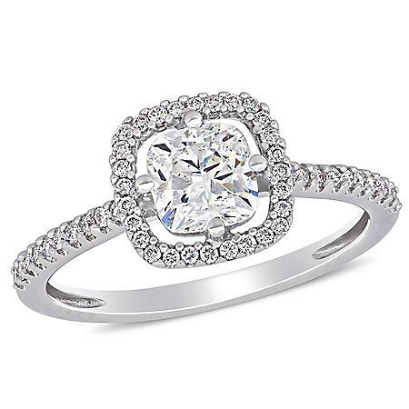 Allura 1.17 CT. T.W. Diamond Halo Engagement Ring in 14k White Gold